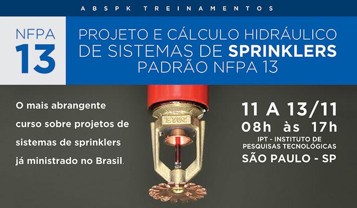 Curso NFPA 13 - Novembro 2015