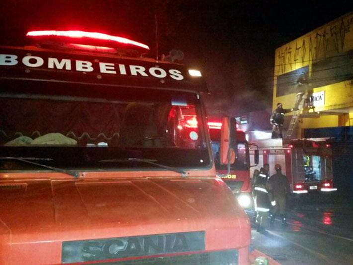 Incêndio em loja no MS
