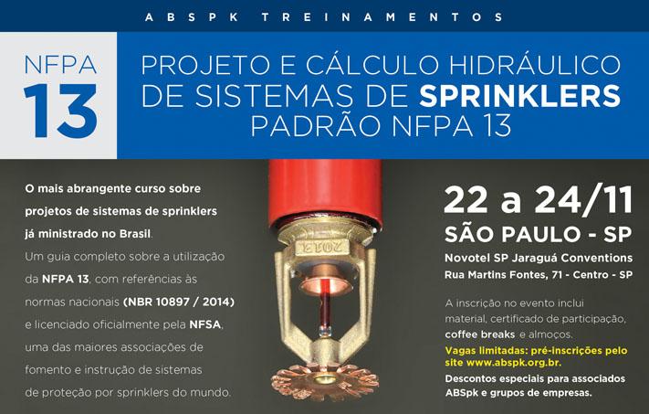 Curso NFPA 13 - Novembro 2017